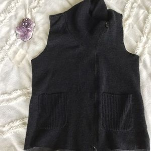 Eileen Fisher Merino Wool Zip up Vest